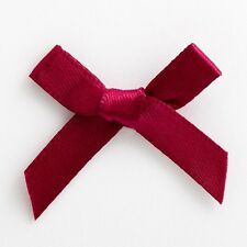 Pack of 100 - 6mm Satin Ribbon Bows 3cm Wide Crafts Wedding