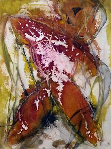 Herbstskizze Original Zeichnung Malerei Phantasie Abstrakte Kunst 41x30 BELAUBRE