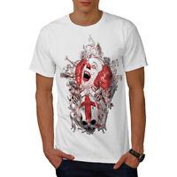 Wellcoda Death Horror Clown Mens T-shirt, Evil Graphic Design Printed Tee