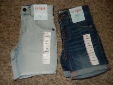 Nwt 3T Cat & Jack Boys 2 Pair Denim Blue Jeans Shorts Set Adjustable Waist