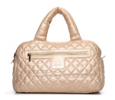 CHANEL Metallic Lambskin Coco Cocoon Bowler Light Gold