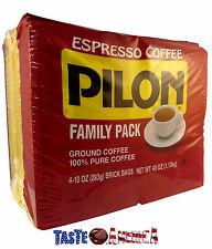 Pilon Cafe Espresso Ground Coffee Family Pack Refil Packs - 4 x 283g - 1.13kg
