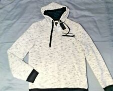 New! BUFFALO DAVID BITTON Black White Hoodie Sweatshirt Fardy Mens Med $89