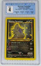 Shining Tyranitar CGC 4 VG/EX, 9.5 Sub Grade, 113/105 Neo Pokemon Card, PSA BGS