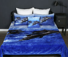 Thick Warm Dolphin Queen / King Size Mink Blanket Double Sided Soft