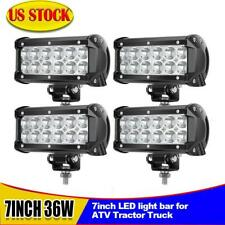 "4X 7"" 36W Led Work Driving Light Bar Spot Offroad Fit 4WD Truck ATV CAR SUV UTE"