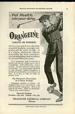 1919 Orangeine Tablets Ad Medicine Drugs Golfer Put Health in Your Drive Golf