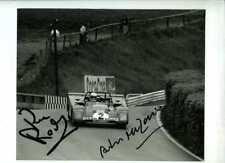 MERZARIO & REDMAN FERRARI 312 PB Nurburgring 1000 KM 1972 firmato fotografia 2