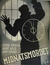 L'étrange Nuit De Noël André Brulé Sylvia Bataille 1939 Vtg Danish Movie Program