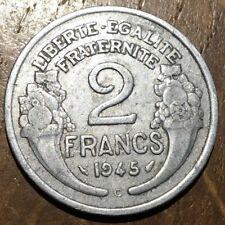 PIECE DE 2 FRANCS MORLON 1945 C ALUMINIUM (247) RARE !!