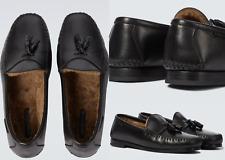 TOM FORD Iconic Tassel Loafers Fell Schuhe Shearling Shoes Mokassin Slipper 42