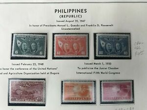 PHILIPPINES 1947-1953 SCOTT C64-C73 COMPLETE + C72a MH-NH 9 stamps + 2 S/S  F-VF
