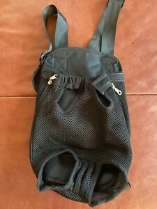Dog Backpack Papoose Black. Small Dog. Never Used
