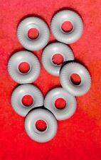 Racer Treaded Tires for Dinky Toys, Grey, 20mm, Foden and Racers, Lot of 8
