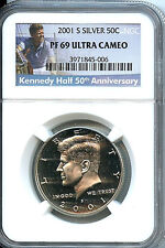 2001 S Kennedy Half NGC PF69 Ultra Cameo 50 Cent Silver Proof Graded Coin C3a