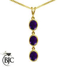 Yellow Gold Amethyst Fine Necklaces & Pendants
