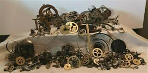 Large Lot of Vintage Brass Clock Parts - Gears & More for Repair or Steam Punk