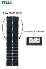 50w Mono Silicon Solar Panel 12v/24v/10A Controller MC4 Connector Module DIY Kit