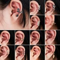 New Fashion Crystal Clip Ear Cuff Stud Women's Men Punk Wrap Cartilage Earring