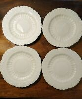 """Set Of Four Copeland Spode China Jewel Eggshell 9"""" Breakfast Plates Hard To Find"""