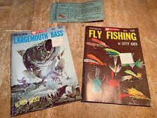 Garcia Fishing Guides, Fly, Largemouth Bass, Heddon Liars Card, Vintage!