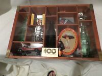 COKE  COCA-COLA 100 ANNIVERSARY CENTENIAL CELEBRATION BOTTLES WOODEN BOX
