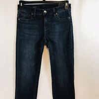New KUT From The Kloth Straight Leg Stretch Jeans Womens Dark Distressed Denim