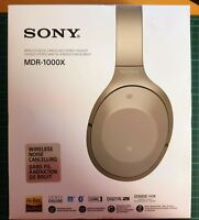 Sony Kabelloser High Resolution Noise Canceling Kopfhörer - Grau/Beige MDR-1000X