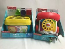 Fisher-Price Baby's First Blocks Learning Toy 6+ Months Infant toddler & Phone