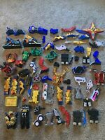 HUGE LOT OF MIGHTY MORPHIN POWER RANGERS INCOMPLETE PARTS & PIECES  MMPR BANDAI