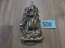 Vintage Brass Door Knocker Revenge Ship