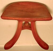 Early 20th Century Sculpted Ash Tripod Saddle Stool After Alfred Loos