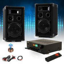 PA Kompakt Musik Anlage Boxen Hifi Bluetooth USB SD AUX MP3 Receiver Verstärker