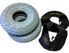 2x Reifen + Schlauch 3.00-4 (260x85) grau, für Elektromobil Rollstuhlreifen, TOP