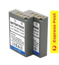 2 x Battery BLS-5 BLS5 Olympus PEN E-PL2 EPL2 E-PL3 E-P3 EP3 E-PM1 EPL1 EPL1s