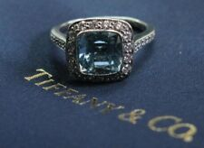 Tiffany & Co Platinum Legacy Aquamarine Diamond Ring 2.54CT