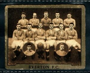 ULTRA RARE TOPICAL TIMES STARS EVERTON & ROOKIE DIXIE DEAN INSET 1924/25 METAL