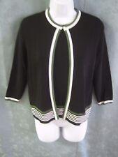 dressbarn Sweater Twin Set Size Small Sleeveless Flat Knit Top & Cardigan