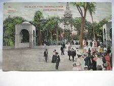 "1908 POSTCARD  "" BIG ISLAND PARK, SHOWING TOWER, MINNEAPOLIS MN "" AMUSEMENT PARK"