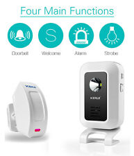 Wireless PIR Motion Sensor Door Bell Shop Visitor Alert Chime Alarm Burglar NEW