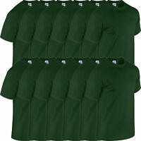 10 Pack Mens HEAVY COTTON GILDAN T shirt Workwear Bulk Job Lot Tshirt Wholesale