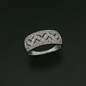 9ct White Gold Dress Ring Pave Set with Natural Diamonds