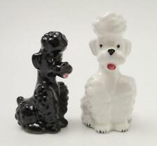 VINTAGE HUMMEL GOEBEL POODLE PAIR SALT & PEPPER SHAKERS BEE MARK S&P GERMANY
