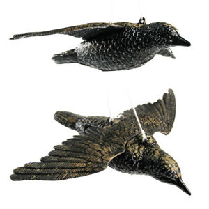 3 pcs Starling Decoy Fake Bird Home Garden Flying Decoy with Wings Hunting