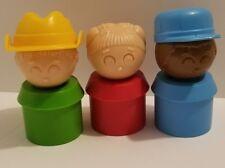Tupperware Toys 1980's LI'L TUPPERS Little Figures Girl Farmer AA Boy Lot Of 3