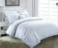 Jacob Luxury 100% Cotton Quilt Duvet Cover Hotel Bedding Set Single Double King
