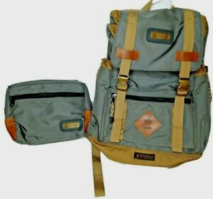 New GOBI Getaway Travel Backpack Gray with Bronze Webbing BONUS TRAVEL BAG $179