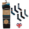 MENS LUXURY STRIPE BAMBOO LOOSE TOP SOCKS, SUPER SOFT, ANTI BACTERIAL, SIZE 6-11