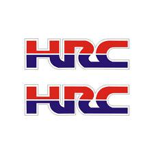 2 Stickers plastifiés HRC Honda - Hornet CBR NSR - 14cm x 4cm