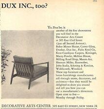 1960 DUX Scandinavian Classic Design Chair PRINT AD
